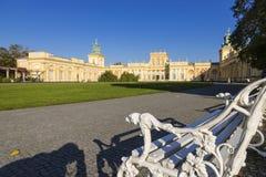 Schöner Palast Wilanow in Warschau Hauptstadt von Polen lizenzfreie stockbilder