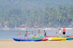 Schöner Palolem-Strand, Goa, Indien Lizenzfreie Stockbilder