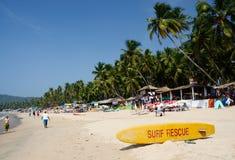 Schöner Palolem-Strand in Goa, Indien Lizenzfreie Stockfotos