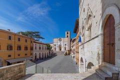 Schöner Panoramablick des zentralen Marktplatzes und des Goth stockbild