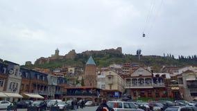 Schöner Panoramablick von altem Tiflis die Hauptstadt von Georgia stockfotografie