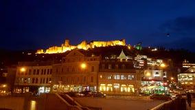 Schöner Panoramablick von altem Tiflis die Hauptstadt von Georgia lizenzfreie stockfotografie
