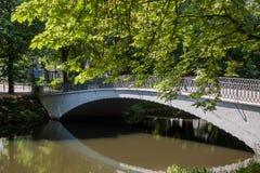 Schöner Park der Parkszene öffentlich lizenzfreie stockbilder