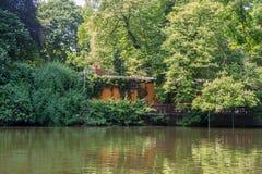 Schöner Park der Parkszene öffentlich stockbild