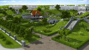 Schöner Parkbereich. Lizenzfreies Stockbild