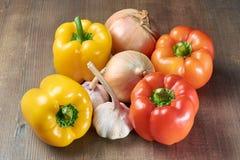 Schöner Pfeffer auf Salat Lizenzfreie Stockfotografie