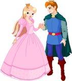 Schöner Prinz und Prinzessin vektor abbildung