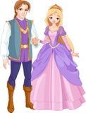 Schöner Prinz und Prinzessin stock abbildung