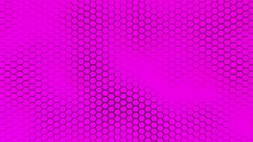 Schöner purpurroter hexagrid Hintergrund mit weichen Meereswellen Lizenzfreie Stockfotos