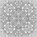 Schöner quadratischer dekorativer Fliesenhintergrund Quadratische geometrische Mandala Stockbild