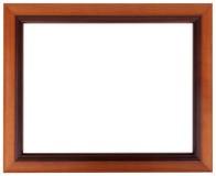 Schöner Rahmen für eine Abbildung oder irgendein Bild Mahagonibilderrahmen lokalisiert auf weißer Farbe Stockbilder