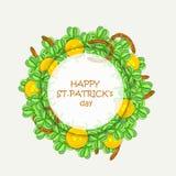 Schöner Rahmen für glücklichen St Patrick Tagesfeier Stockbild