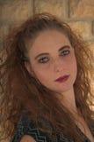 Schöner Redhead-grüne Augen Stockbilder