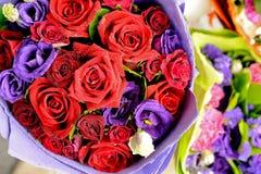 Schöner rosafarbener Blumenstrauß Lizenzfreie Stockbilder