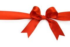 Schöner roter Bogen auf weißem Hintergrund Stockfotos
