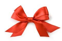 Schöner roter Bogen auf weißem Hintergrund Lizenzfreie Stockfotografie