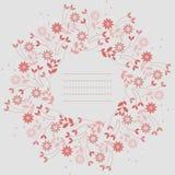 Schöner runder Rahmen mit Kamillenblumen und -blättern vektor abbildung