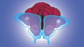 Schöner Schmetterling mit großen halb-transparenten Flügeln sitzt auf a Lizenzfreies Stockfoto