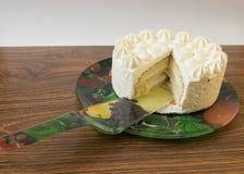 Schöner Schnitt ein Kuchen Lizenzfreie Stockfotografie