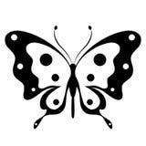 Schöner schwarzer Schmetterling, lokalisiert auf einem Weiß Lizenzfreie Stockfotos