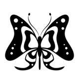 Schöner schwarzer Schmetterling, lokalisiert auf einem Weiß Stockbilder