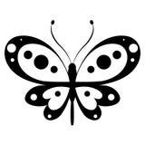 Schöner schwarzer Schmetterling, lokalisiert auf einem Weiß Lizenzfreies Stockbild