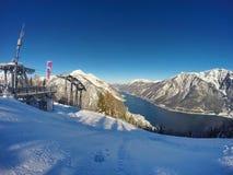 Schöner See Achensee im Winter, Österreich-Alpen in Tirol, Österreich Stockfoto