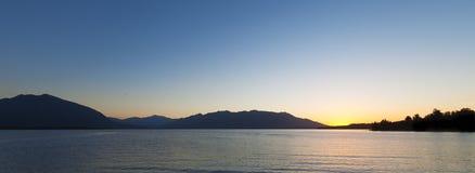 Schöner See Brunner bei Sonnenuntergang, Südinsel, Neuseeland Stockfotos
