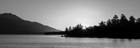 Schöner See Brunner bei Sonnenuntergang, Südinsel, Neuseeland Lizenzfreie Stockbilder