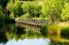 Schöner See im Sommer Stockbild