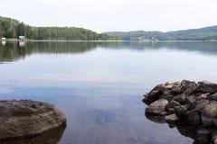 Schöner See in Schweden Stockbild
