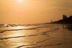 Schöner Seesonnenuntergang Lizenzfreie Stockfotografie