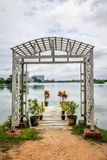 Schöner Seeweg von Inya, Rangun, Myanmar Stockfoto