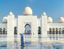 Schöner Sheikh Zayed Mosque in Abu Dhabi, UAE Stockfoto