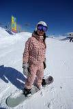 Schöner Snowboarder Stockfotografie