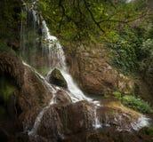 Schöner Sommerwasserfall Stockfotos