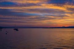 Schöner Sonnenaufgang beim Genfersee die Schweiz Lizenzfreie Stockfotografie