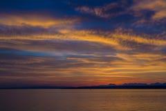 Schöner Sonnenaufgang beim Genfersee die Schweiz Stockfotografie