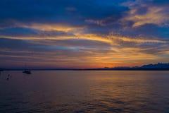 Schöner Sonnenaufgang beim Genfersee die Schweiz Lizenzfreie Stockbilder