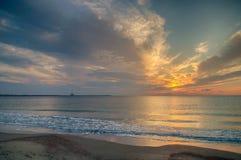 Schöner Sonnenaufgang beim Schwarzen Meer Lizenzfreie Stockfotografie