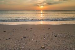 Schöner Sonnenaufgang beim Schwarzen Meer Stockbilder