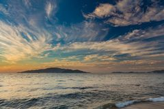 Schöner Sonnenaufganghimmel Stockbilder