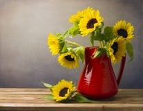 Schöner Sonnenblumeblumenstrauß Lizenzfreies Stockbild
