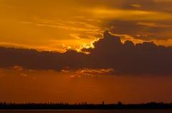 Schöner Sonnenuntergang Lizenzfreie Stockfotografie