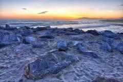 Schöner Sonnenuntergang 3 Costadel Sol lizenzfreie stockfotos