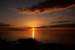 Schöner Sonnenuntergang Stockfoto