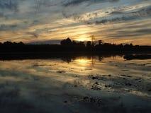 Schöner Sonnenuntergang Stockbild