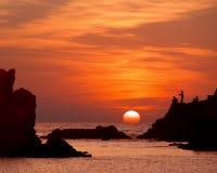 Schöner Sonnenuntergang Stockfotos