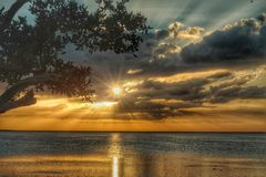 Schöner Sonnenuntergang Lizenzfreies Stockfoto