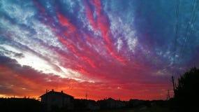 Schöner Sonnenuntergang 2014 Lizenzfreies Stockfoto